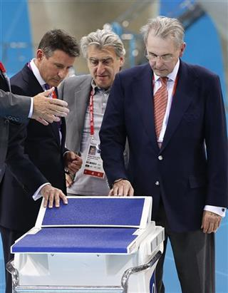 Sebastian Coe, Nick Hayek, Jacques Rogge