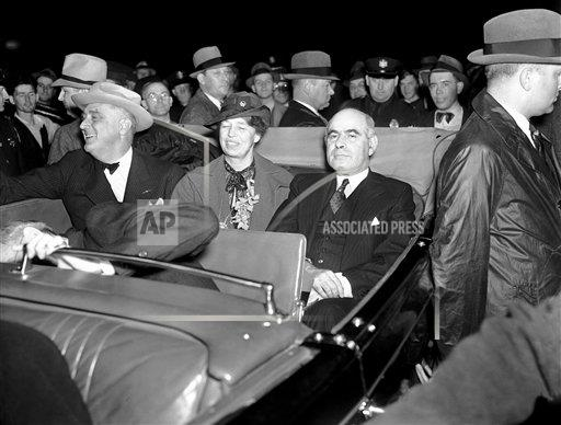 Watchf AP A  NY USA APHS329142 President Roosevelt ended his campaign trip