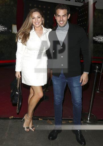 Kelly Brook and Jeremy Parisi in London, England - 10/16/20