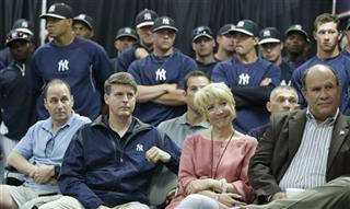 Brian Cashman, Hal Steinbrenner, Jean Afterman, Felix Lopez
