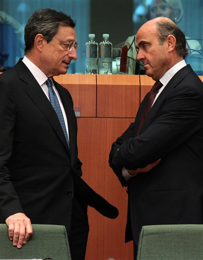 Mario Draghi, Luis de Guindos Jurado