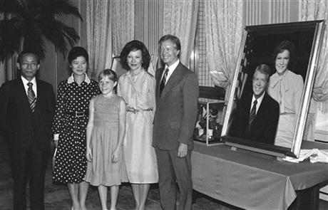 Park Chung-hee, Park Geun-hye, Jimmy Carter, Rosalynn Carter, Amy Carter