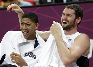 Deron Williams,  Anthony Davis,Kevin Love
