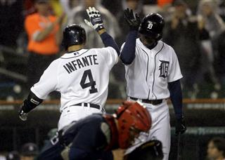 Omar Infante, Austin Jackson