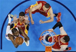 Kevin Durant, Chandler Parsons, Francisco Garcia, Omer Asik