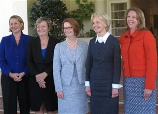 Sharon Bird, Jan Lucas, Julia Gillard, Quentin Bryce, Catherine King