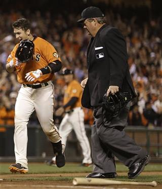 Buster Posey, Joe West