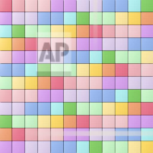 3D rendering, Rainbow colored tiles