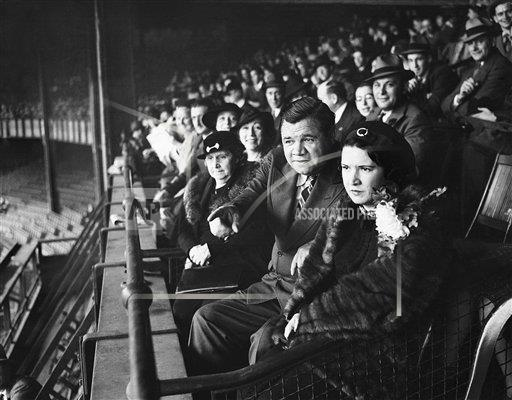 Watchf Associated Press Sports Professional Baseball (American League) New York United States APHS176443 Babe Ruth At Army Game 1936