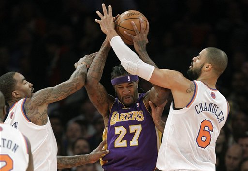 Tyson Chandler, J.R. Smith, Jordan Hill