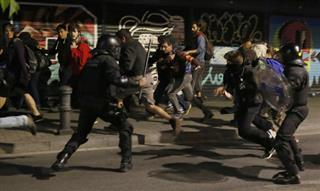 Spain Squatter Clash