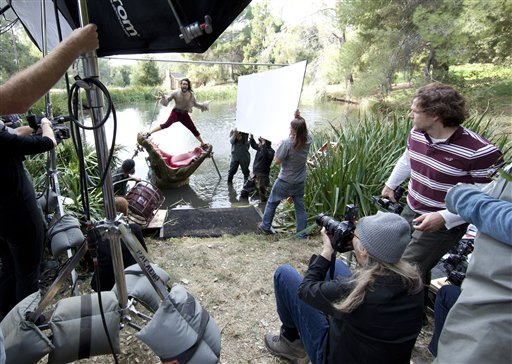 BTS of Russell Brand as Captain Hook in New Disney Parks Dream Portrait by Annie Leibovitz