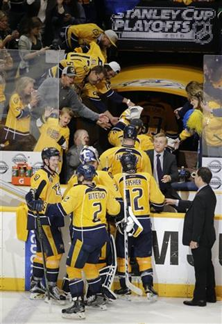 Mike Fisher, Anthony Bitetto, Ryan Johansen