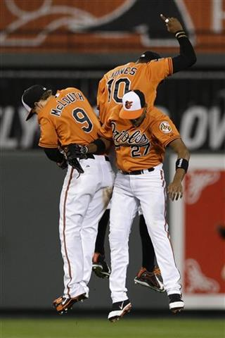 Endy Chavez, Nate McLouth, Adam Jones