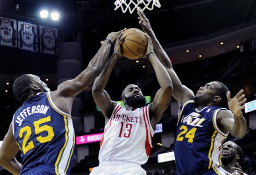 James Harden, Paul Millsap, Al Jefferson