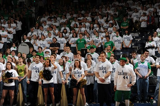 Notre Dame students