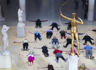 APTOPIX Met Museum Workout
