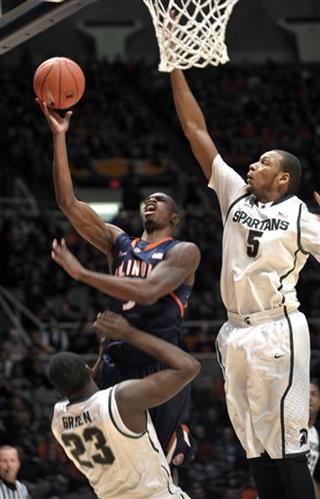Brandon Paul, Michigan State, Adreian Payne