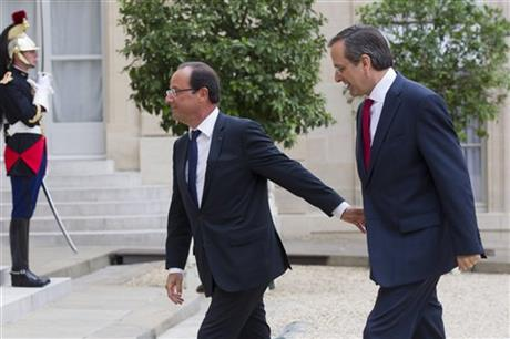 Francois Hollande, Antonis Samaras  