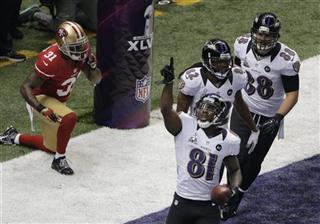 Donte Whitner, Anquan Boldin, Torrey Smith, Dennis Pitta