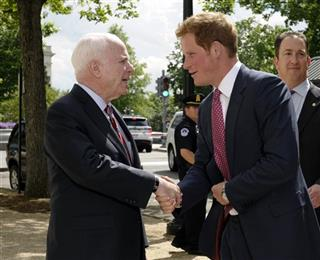 Prince Harry, John McCain, Drew Willison