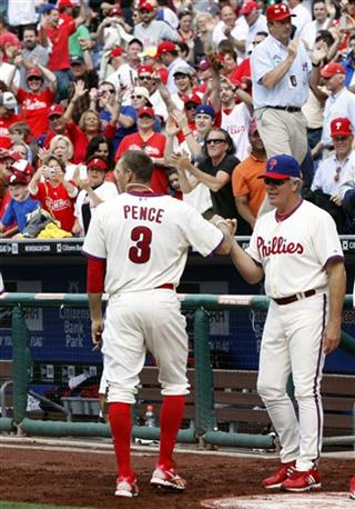 Hunter Pence, Pete Mackanin
