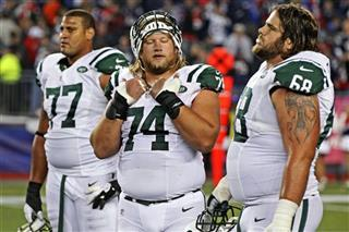Austin Howard, Nick Mangold, Matt Slauson