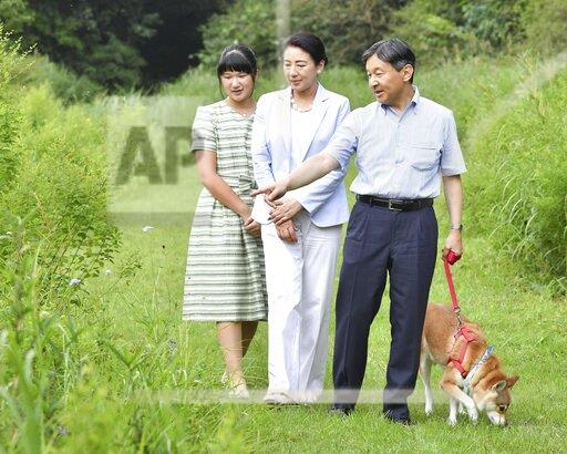 Japan imperial family on summer vacation