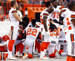 Browns Anthem Protest Football
