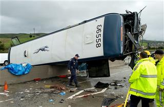 APTOPIX Fatal Bus Accident