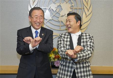 Ban Ki-moon, Psy