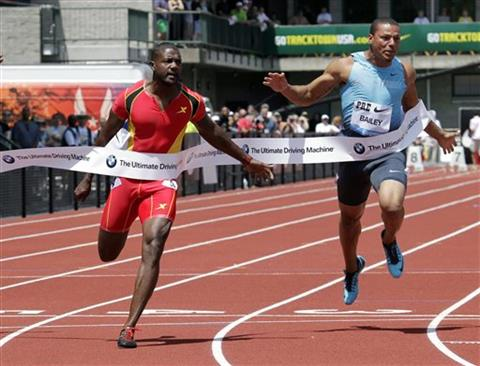 Justin Gatlin, Ryan Bailey