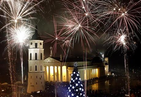 Lithuania New Year&#039;s Celebrations