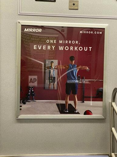 """Advertisements for the 'Mirror"""" on the NYC Subway - 9/14/20"""