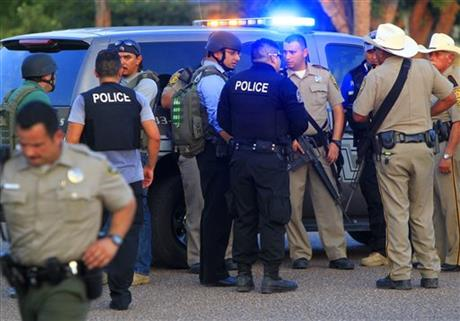Officers Shot-Standoff-Texas