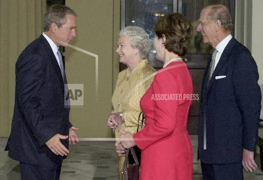 Associated Press International News United Kingdom England BRITAIN BUSH