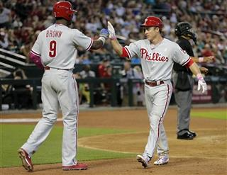 Chase Utley, Domonic Brown