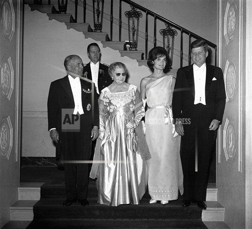 Watchf AP A  DC USA APHS262285 John F. Kennedy and Jacqueline Kennedy