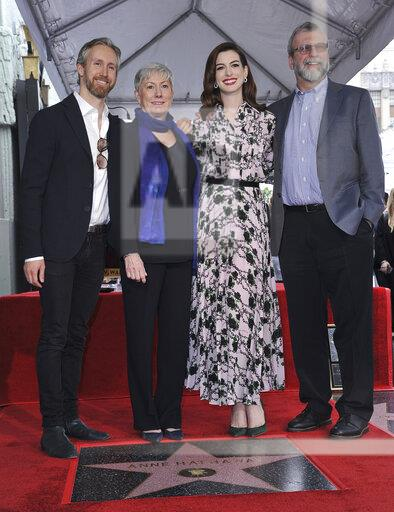 Anne Hathaway Honored with a Star on the Hollywood Walk of Fame