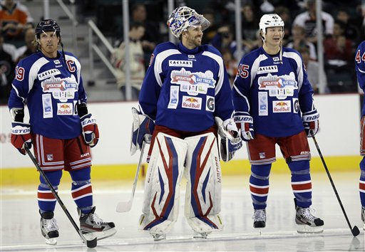 Henrik Lundqvist, Brad Richards, Arron Asham