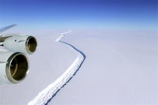 Antarctica Ice Shelf Crack