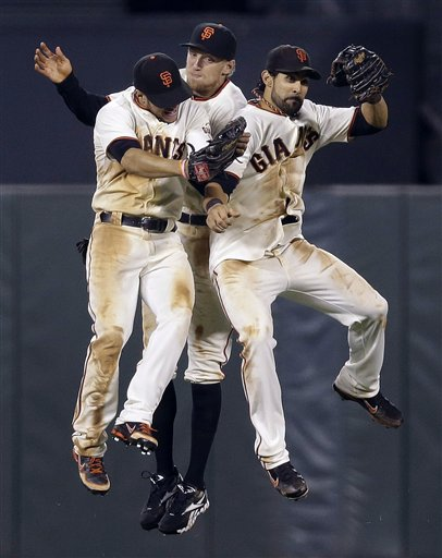 Gregor Blanco, Hunter Pence, Angel Pagan