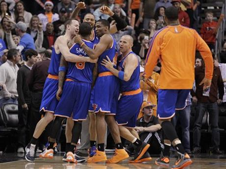 Jason Kidd, James White, Steve Novak, Tyson Chandler, J.R. Smith