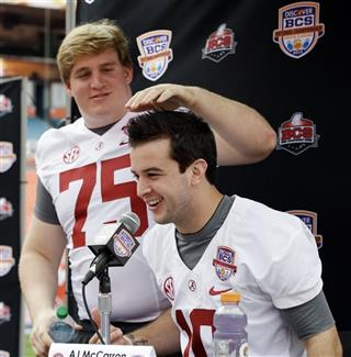 AJ McCarron, Barrett Jones