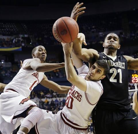 SEC Arkansas Vanderbilt Basketball