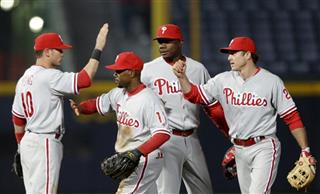 Michael Young, Jimmy Rollins, Ryan Howard, Chase Utley