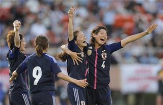 Homare Sawa, Saki Kumagai, Nahomi Kawasumi, Yuki Ogimi