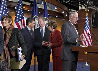 Rosa DeLauro, Xavier Becerra, Chris Van Hollen, Nancy Pelosi, Steny Hoyer