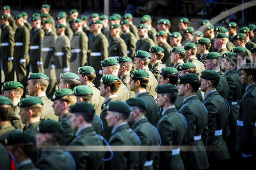 40 Commando Royal Marines parade