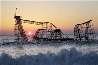Coaster In Ocean